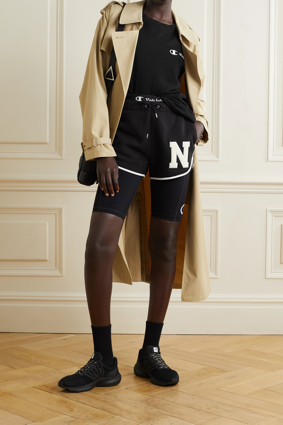Nili Lotan + Champion printed cotton-jersey T-shirt