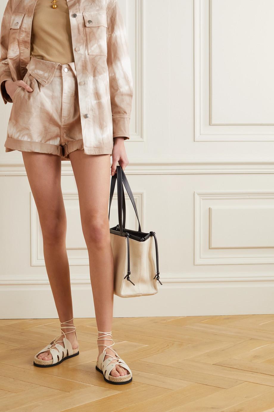 Stella McCartney Tie-dyed denim shorts