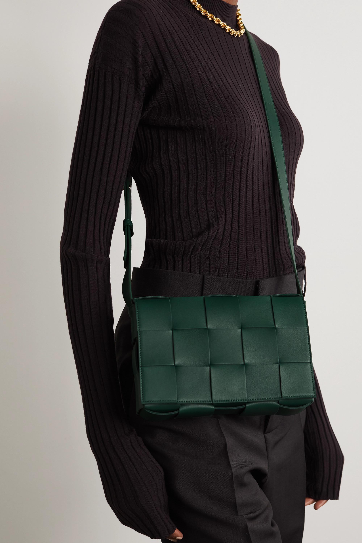 Bottega Veneta Sac porté épaule en cuir intrecciato Cassette