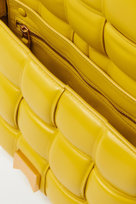 Bottega Veneta Cassette gepolsterte Schultertasche aus Intrecciato-Leder