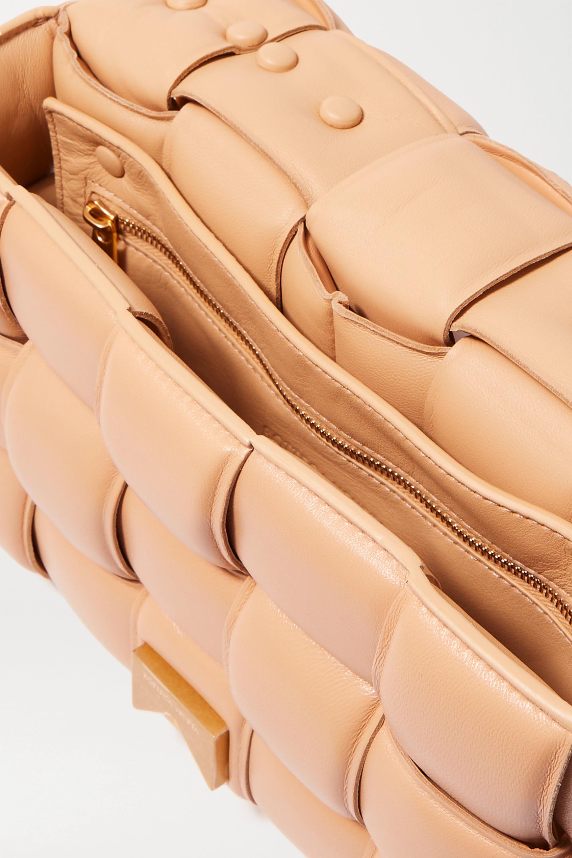 Bottega Veneta Cassette chain-embellished padded intrecciato leather shoulder bag