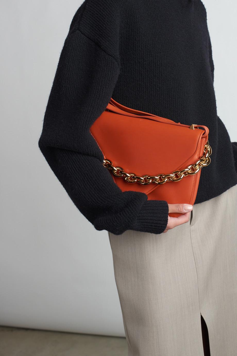 Bottega Veneta Sac porté épaule en cuir Mount Large