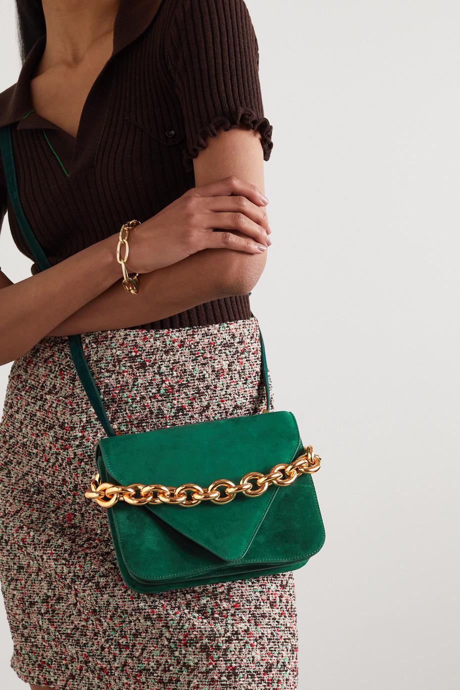 Bottega Veneta Chain small suede shoulder bag