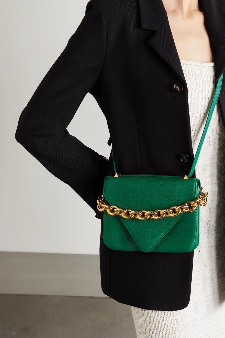 Bottega Veneta Sac porté épaule en cuir texturé Mount Small