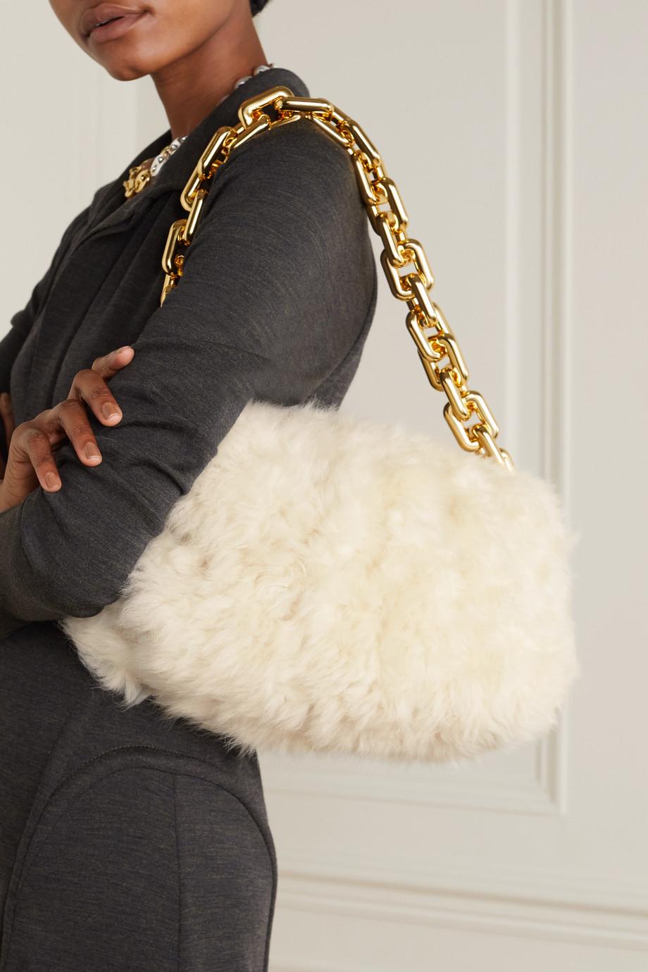 Bottega Veneta Pochette en peau lainée The Chain Pouch