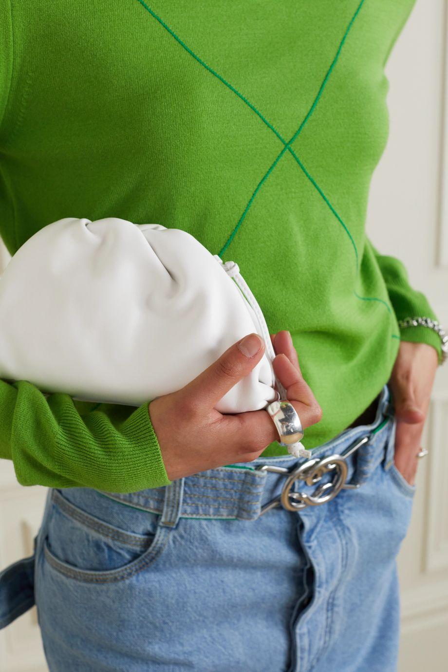 Bottega Veneta The Pouch small gathered intrecciato leather clutch