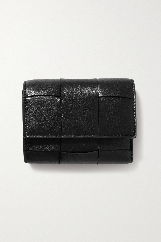 Bottega Veneta Portefeuille en cuir intrecciato Cassette