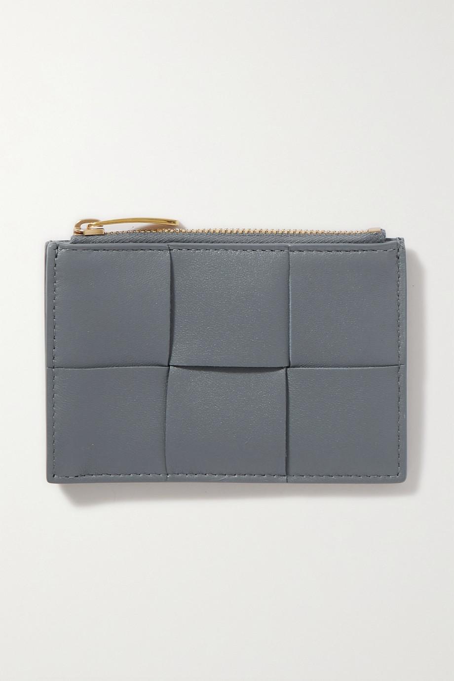 Bottega Veneta Cassette intrecciato leather cardholder