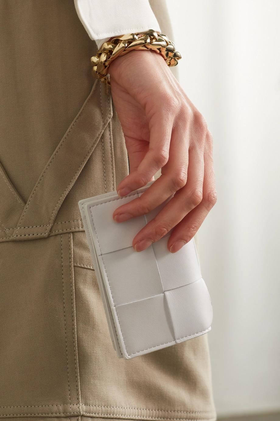 Bottega Veneta Cassette Kartenetui aus Intrecciato-Leder