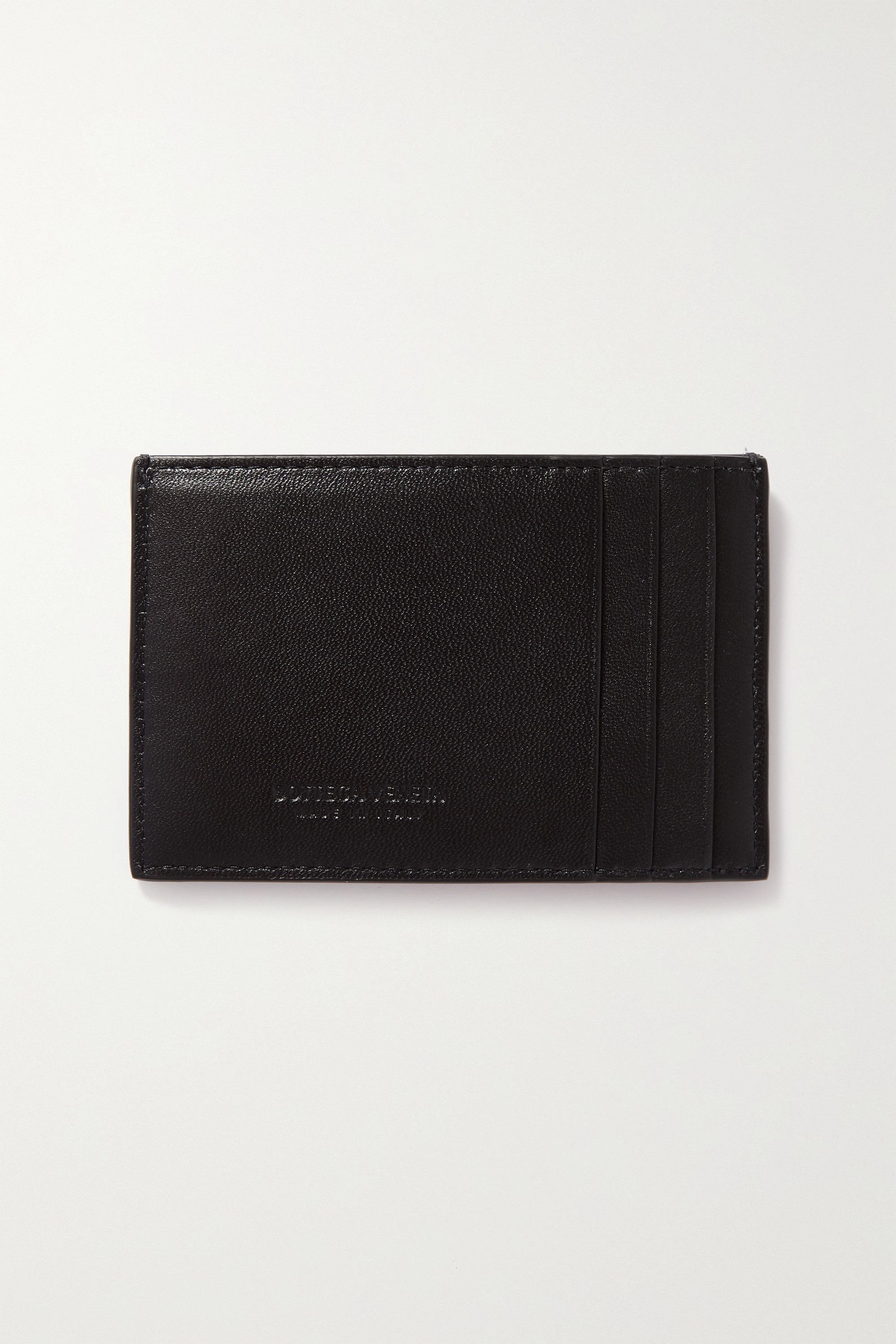 Bottega Veneta Porte-cartes en cuir intrecciato Cassette