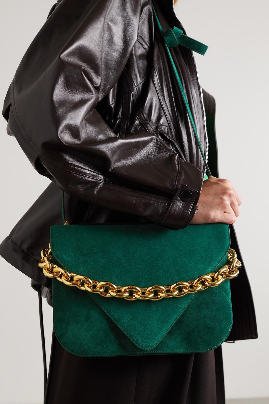Bottega Veneta Chain large suede shoulder bag