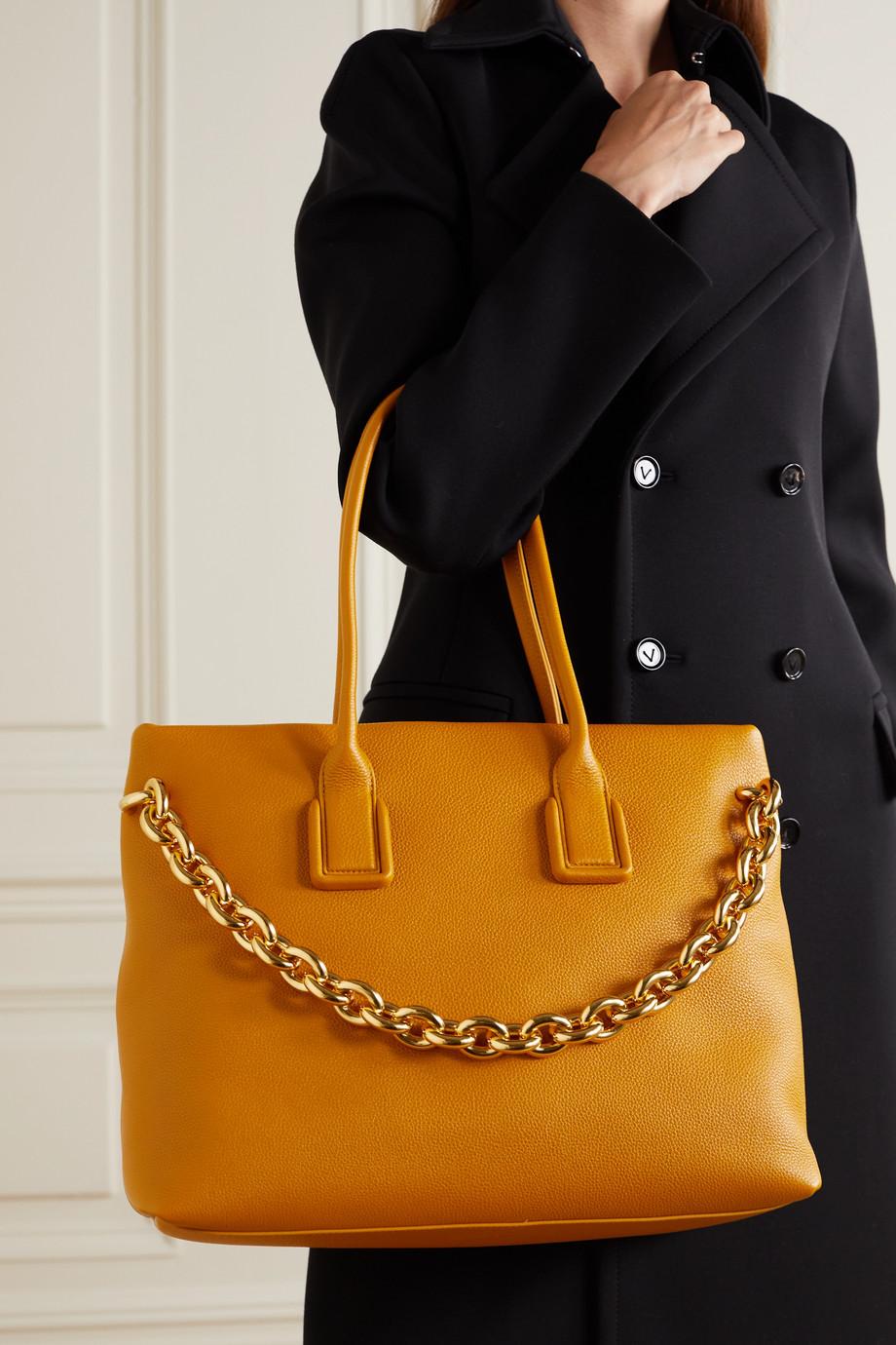 Bottega Veneta Sac à main en cuir texturé à chaîne