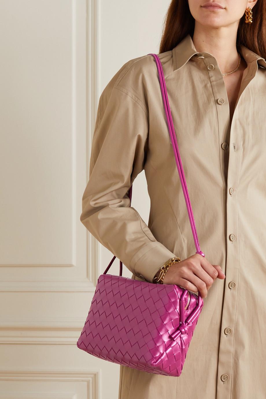 Bottega Veneta Nodini mini intrecciato leather shoulder bag