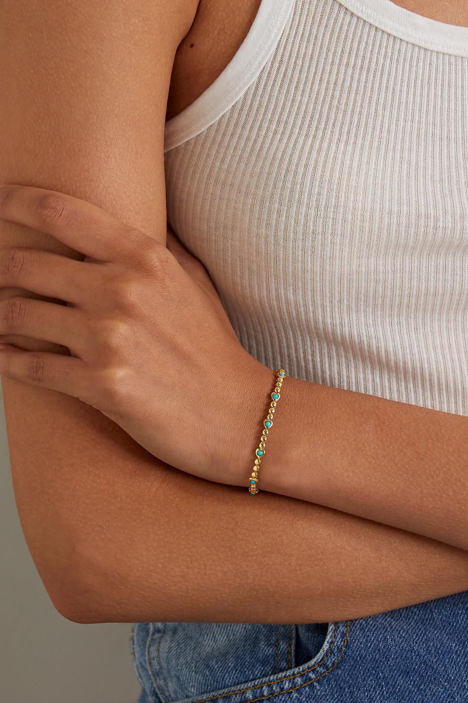 Jennifer Meyer Heart 18-karat gold turquoise bracelet
