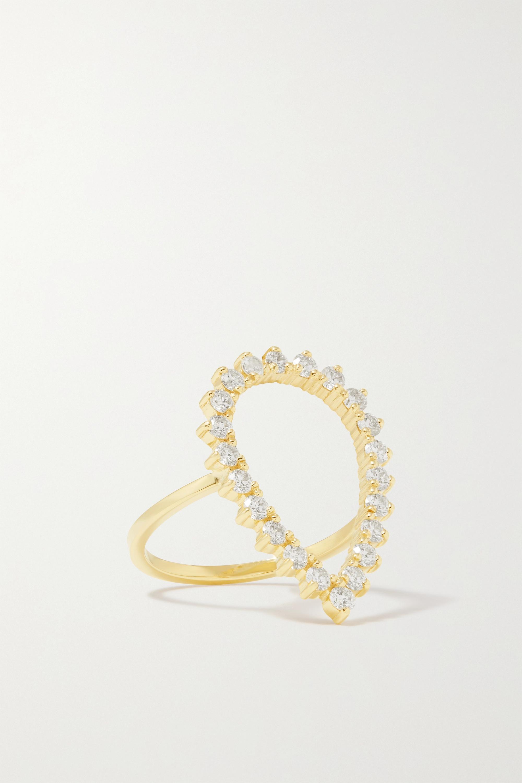 Jennifer Meyer - Open Teardrop 18-karat gold diamond ring