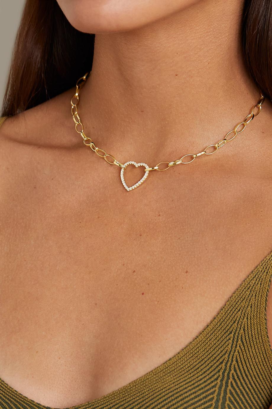 Jennifer Meyer Medium Edith Kette aus 18 Karat Gold mit Diamanten