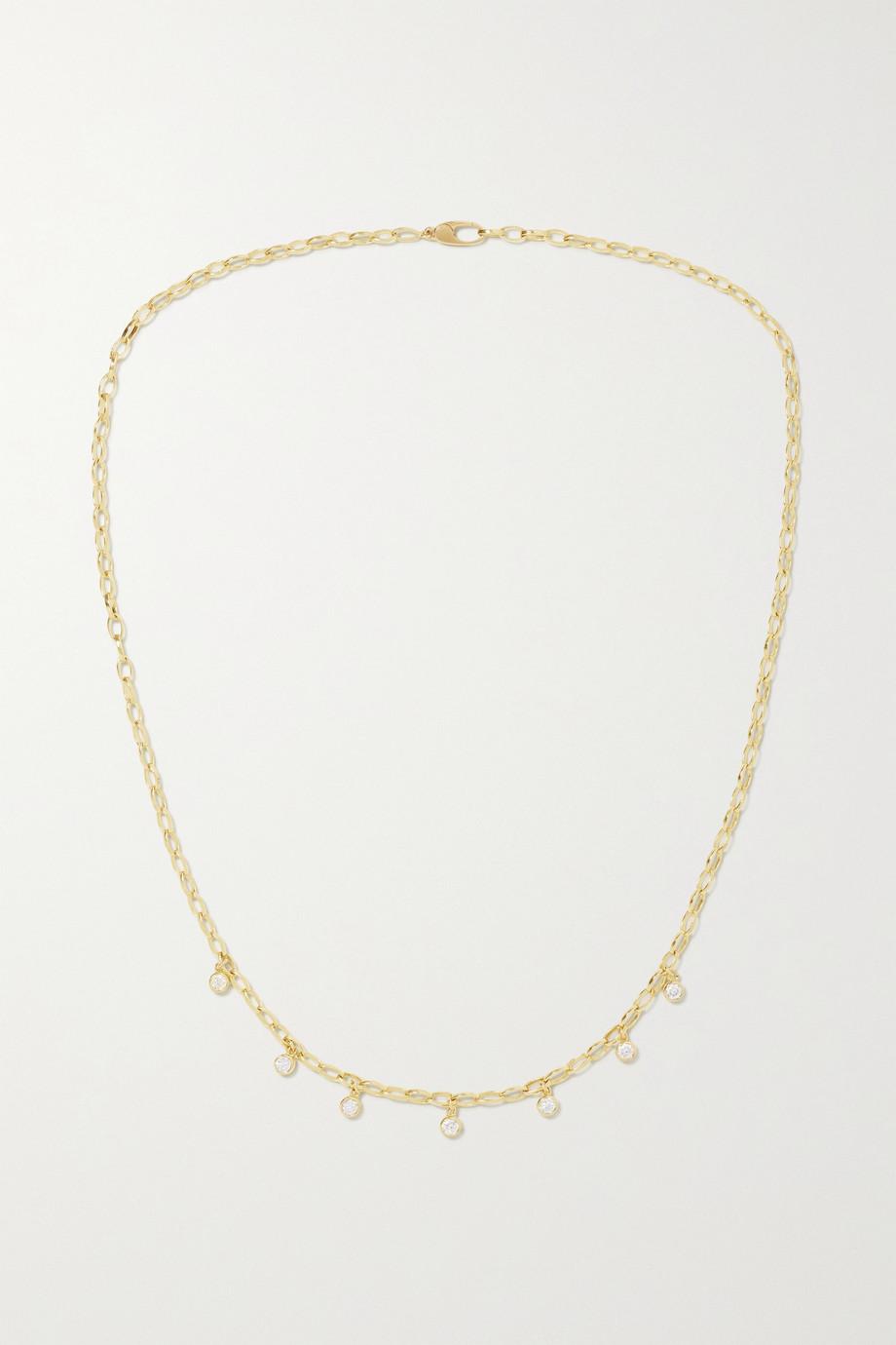 Jennifer Meyer Small Edith Kette aus 18 Karat Gold mit Diamanten