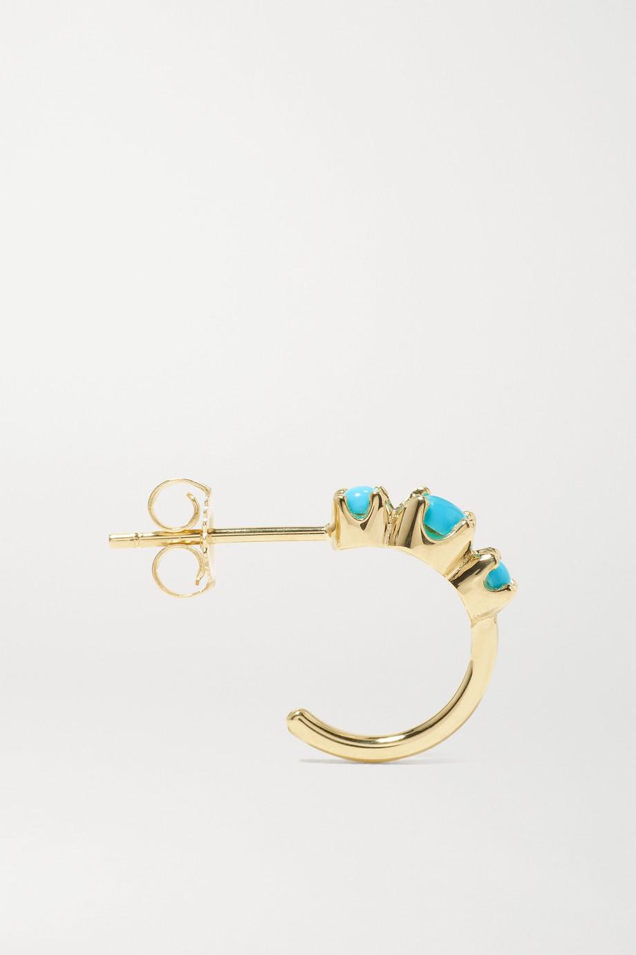 Jennifer Meyer 18-karat gold turquoise hoop earrings