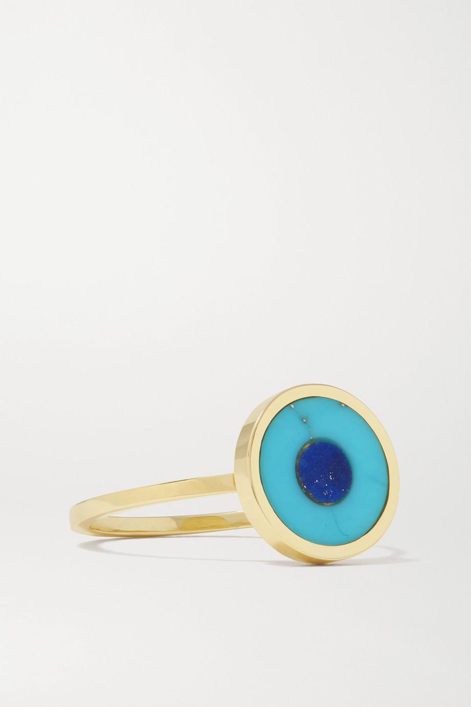 Jennifer Meyer Evil Eye 18-karat gold, turquoise and lapis lazuli ring