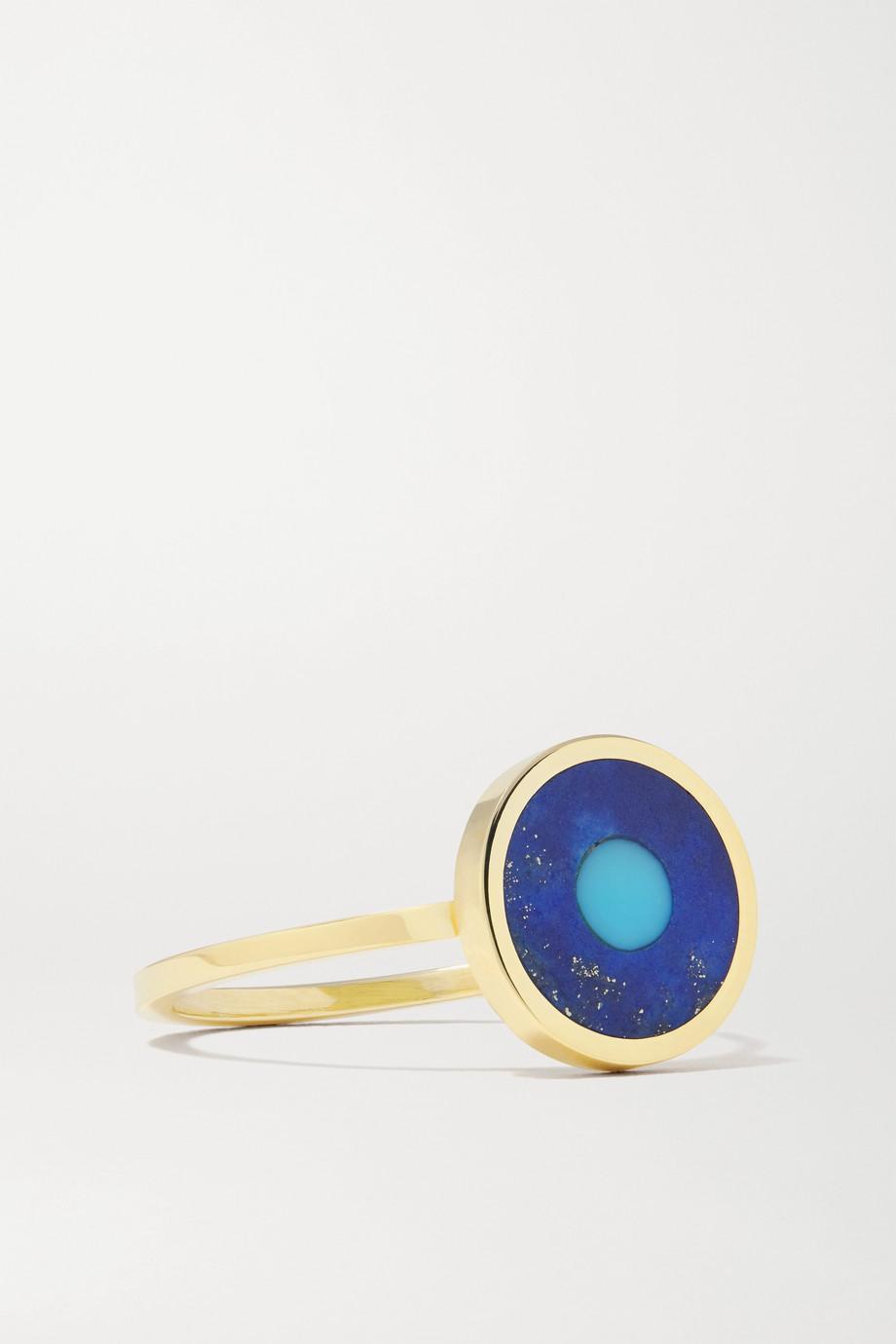 Jennifer Meyer Evil Eye 18-karat gold,  lapis lazuli and turquoise ring