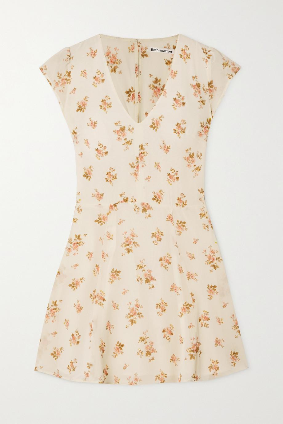 Reformation + NET SUSTAIN Deven floral-print georgette mini dress