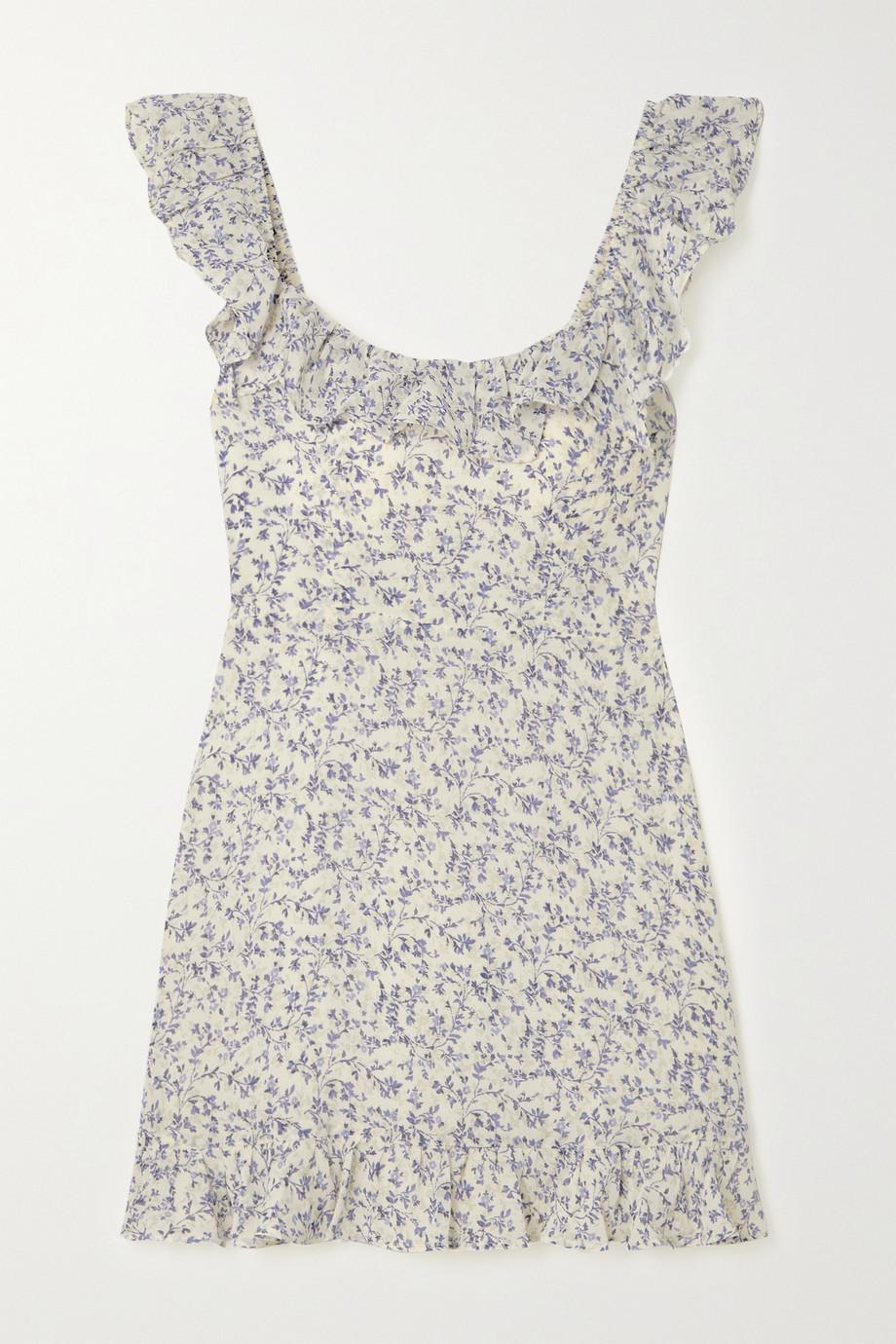 Reformation + NET SUSTAIN Paris ruffled floral-print georgette mini dress