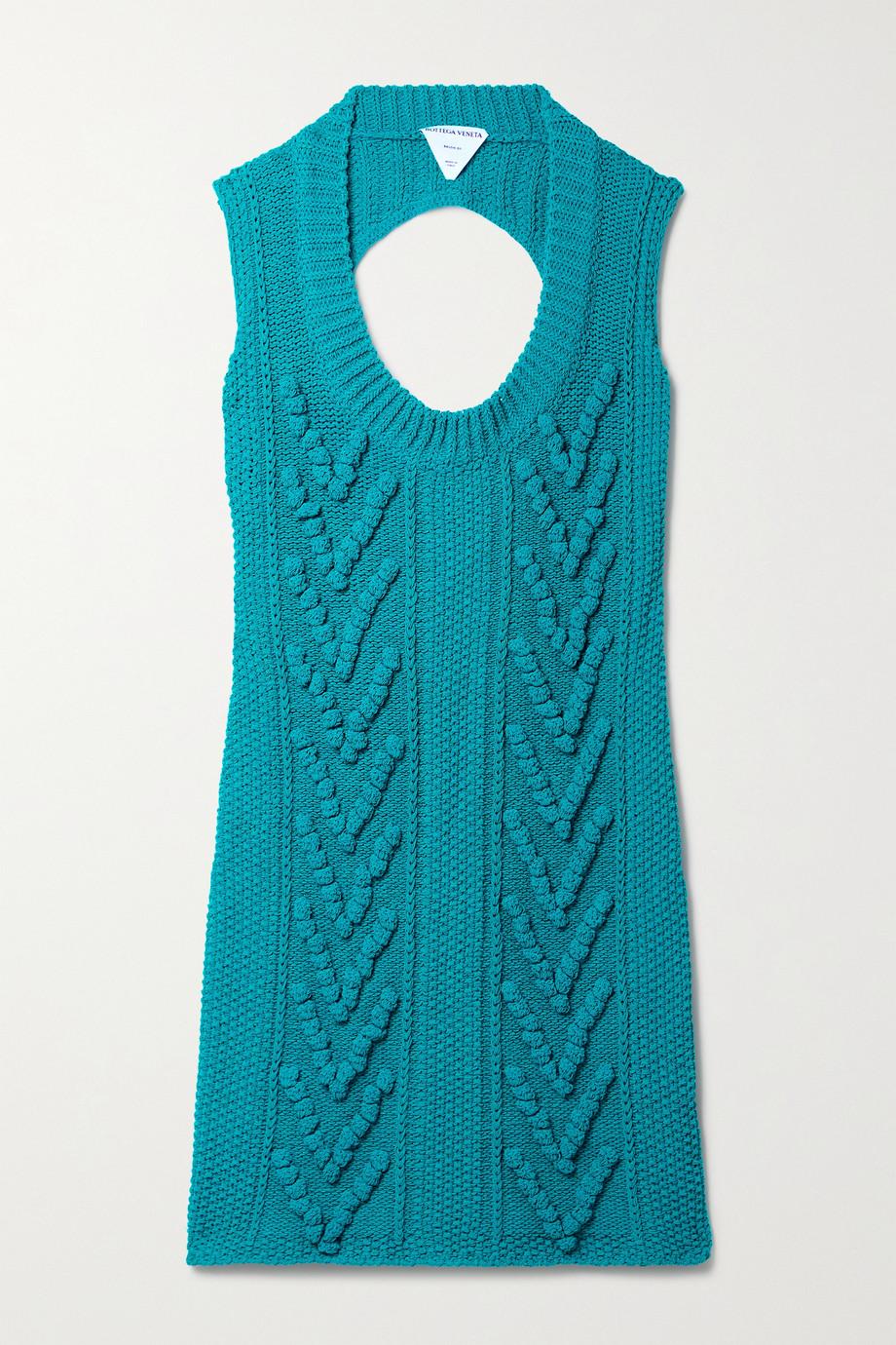 Bottega Veneta Mini-robe en coton mélangé à découpe