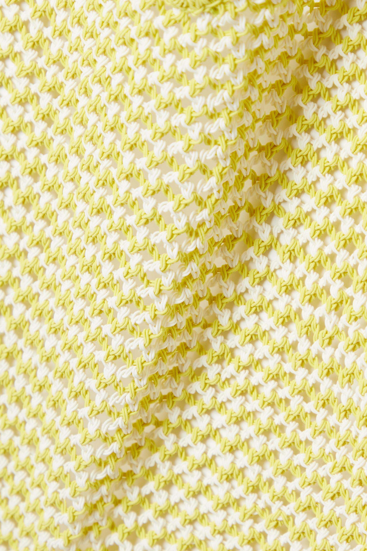 Bottega Veneta Body dos nu en coton mélangé crocheté