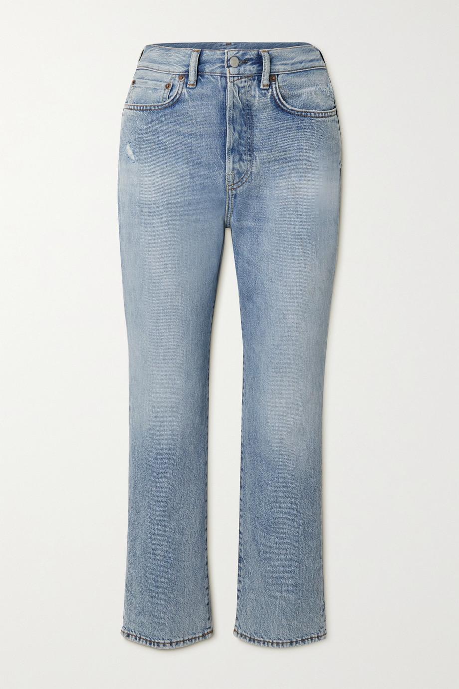 Acne Studios Distressed high-rise straight-leg jeans