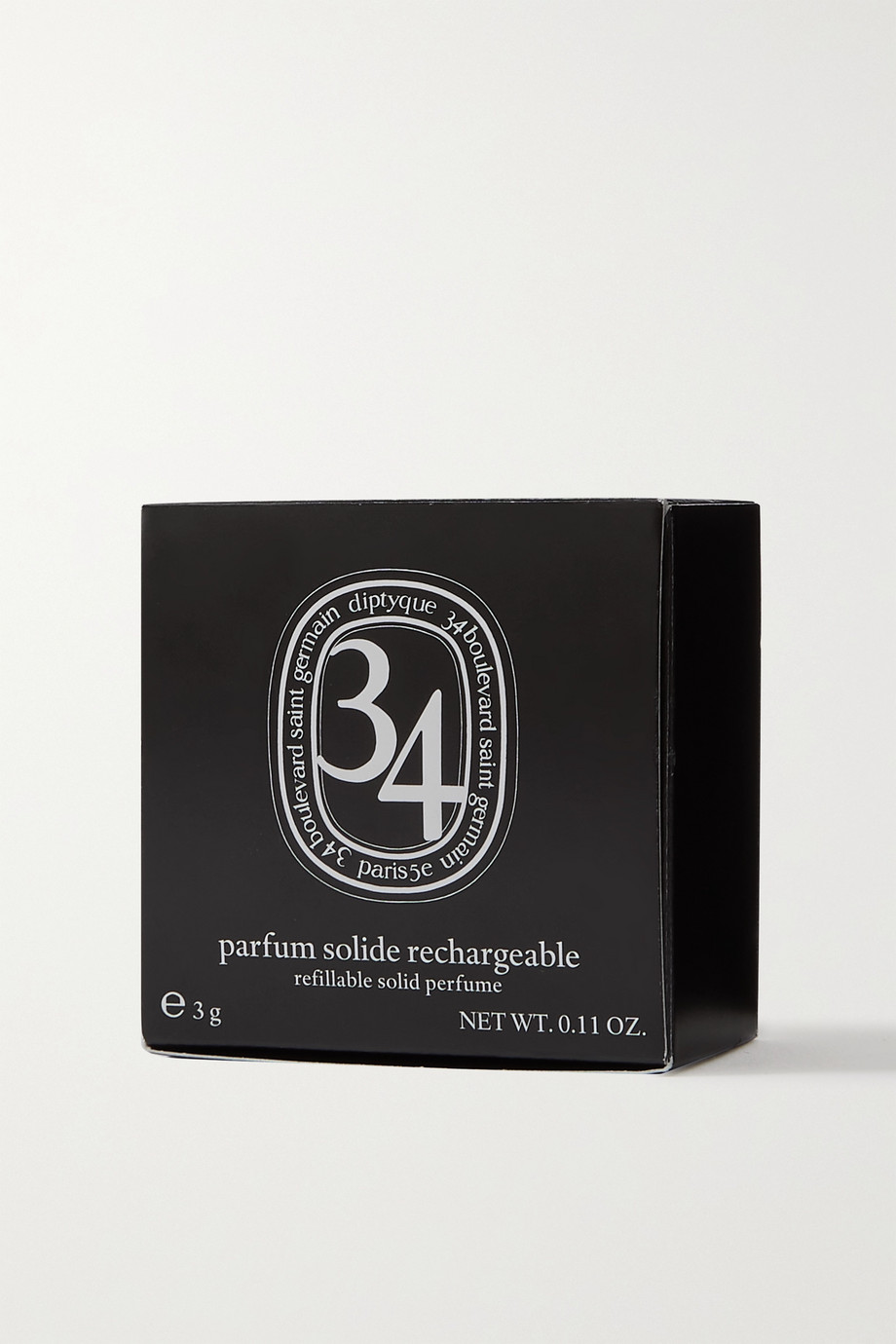 Diptyque Parfum solide rechargeable 34 Boulevard Saint Germain, 3 g