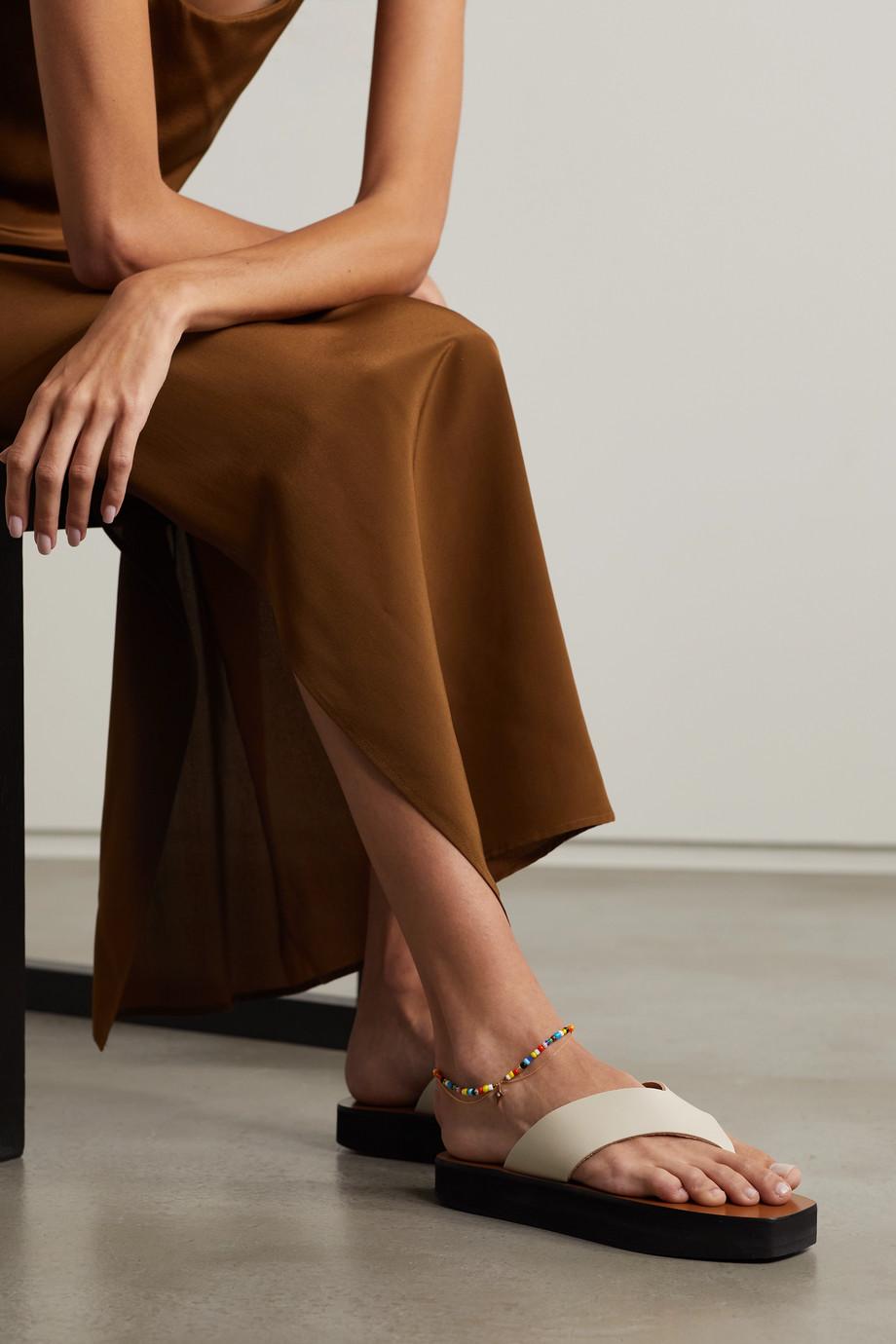 Diane Kordas 14-karat rose gold, enamel and diamond anklet