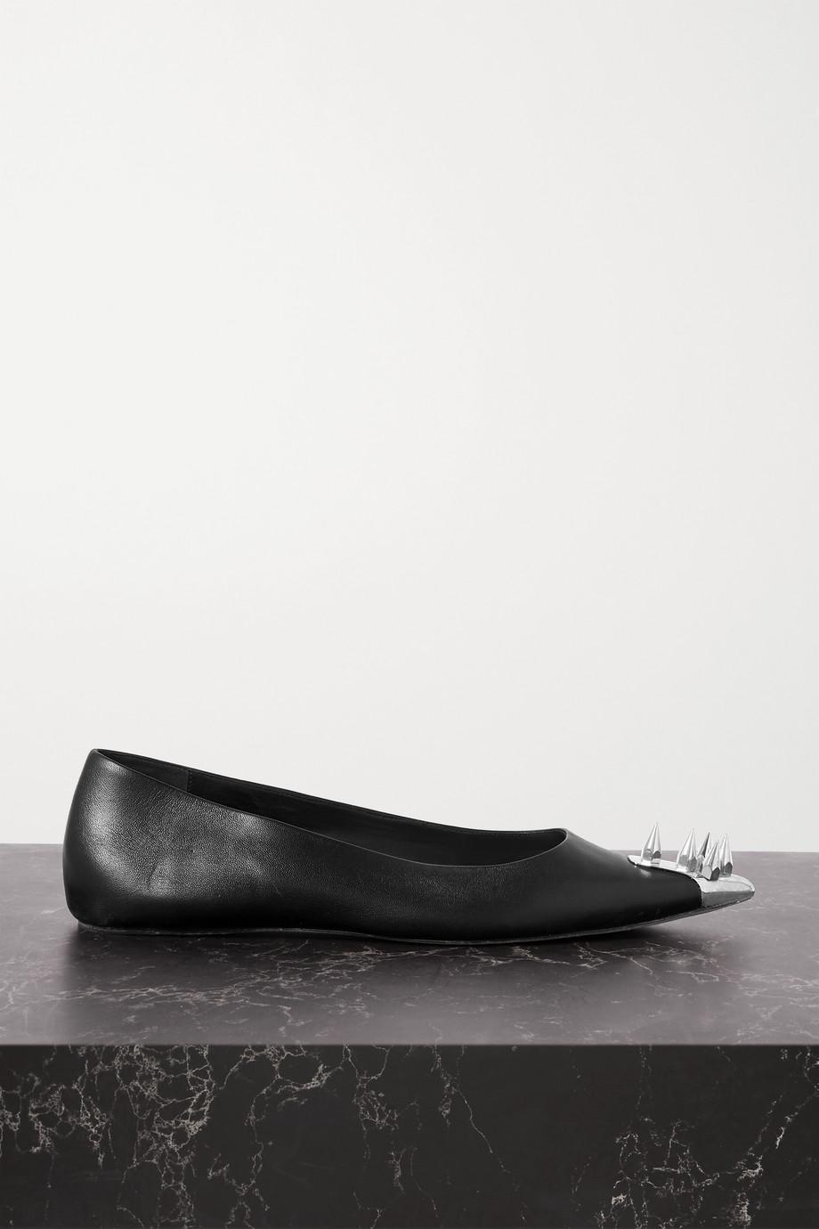 Alexander McQueen Ballerinas aus Leder mit Verzierung