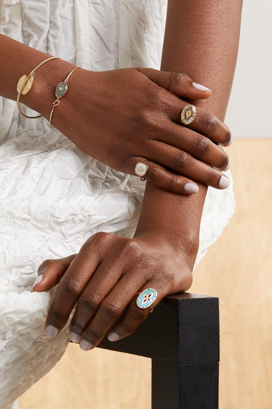 Pascale Monvoisin Souad 9-karat gold, amethyst and diamond ring