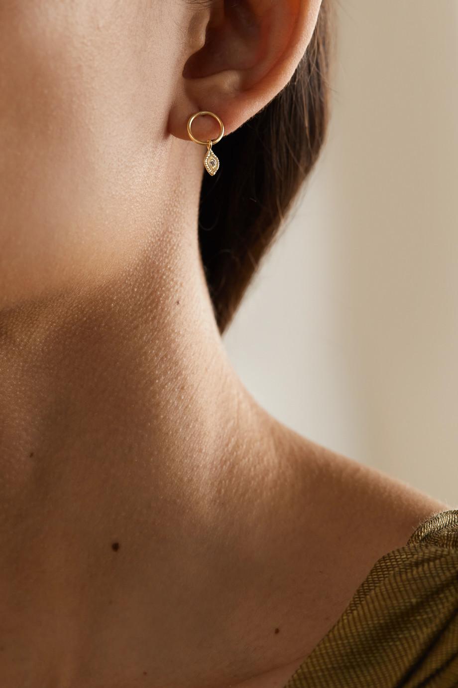 Pascale Monvoisin Souad N°1 9-karat gold diamond earring