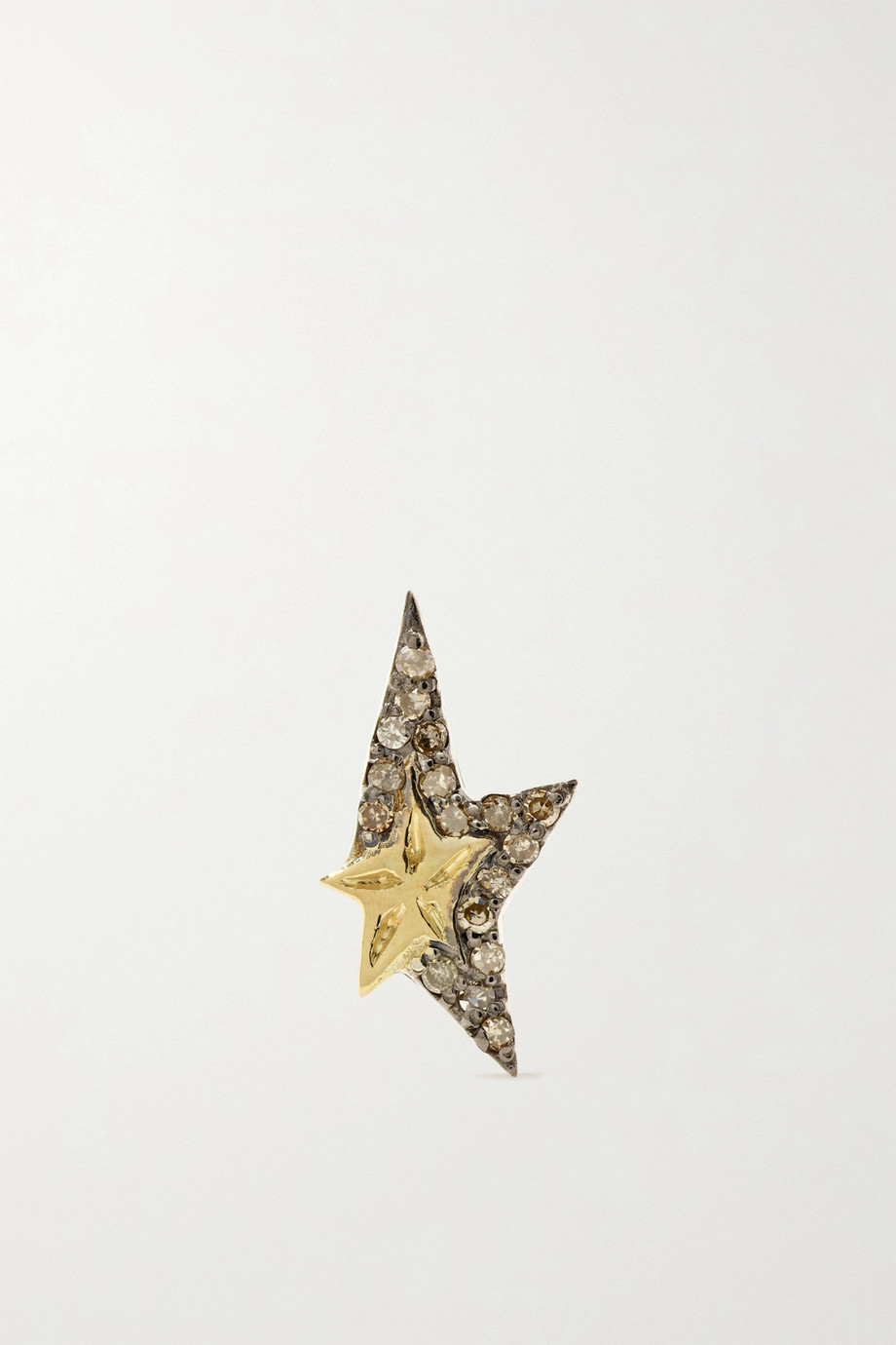 Pascale Monvoisin Varda 9-karat gold, sterling silver and diamond earring
