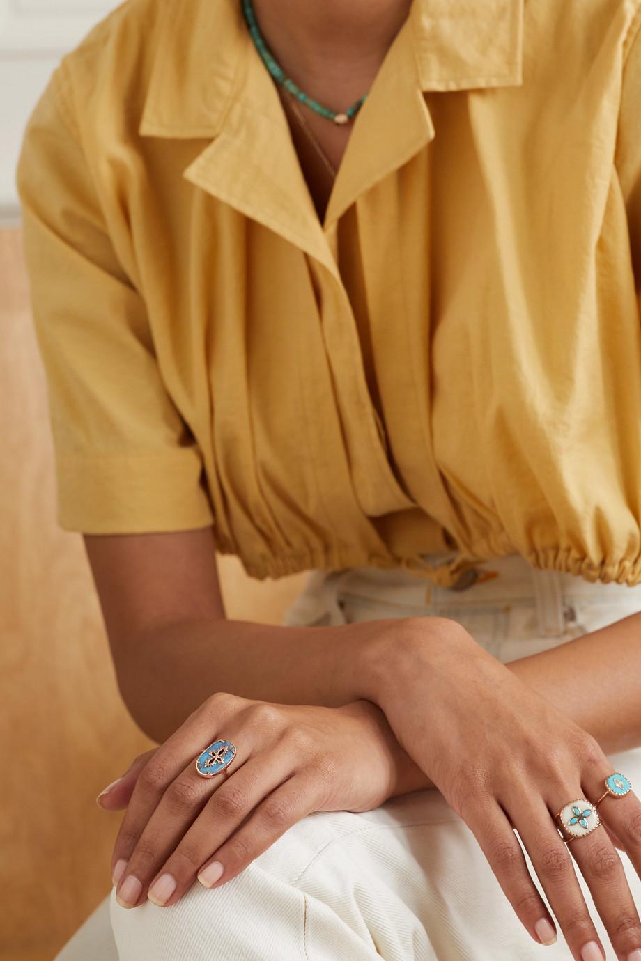 Pascale Monvoisin Sunday 9-karat rose gold turquoise ring