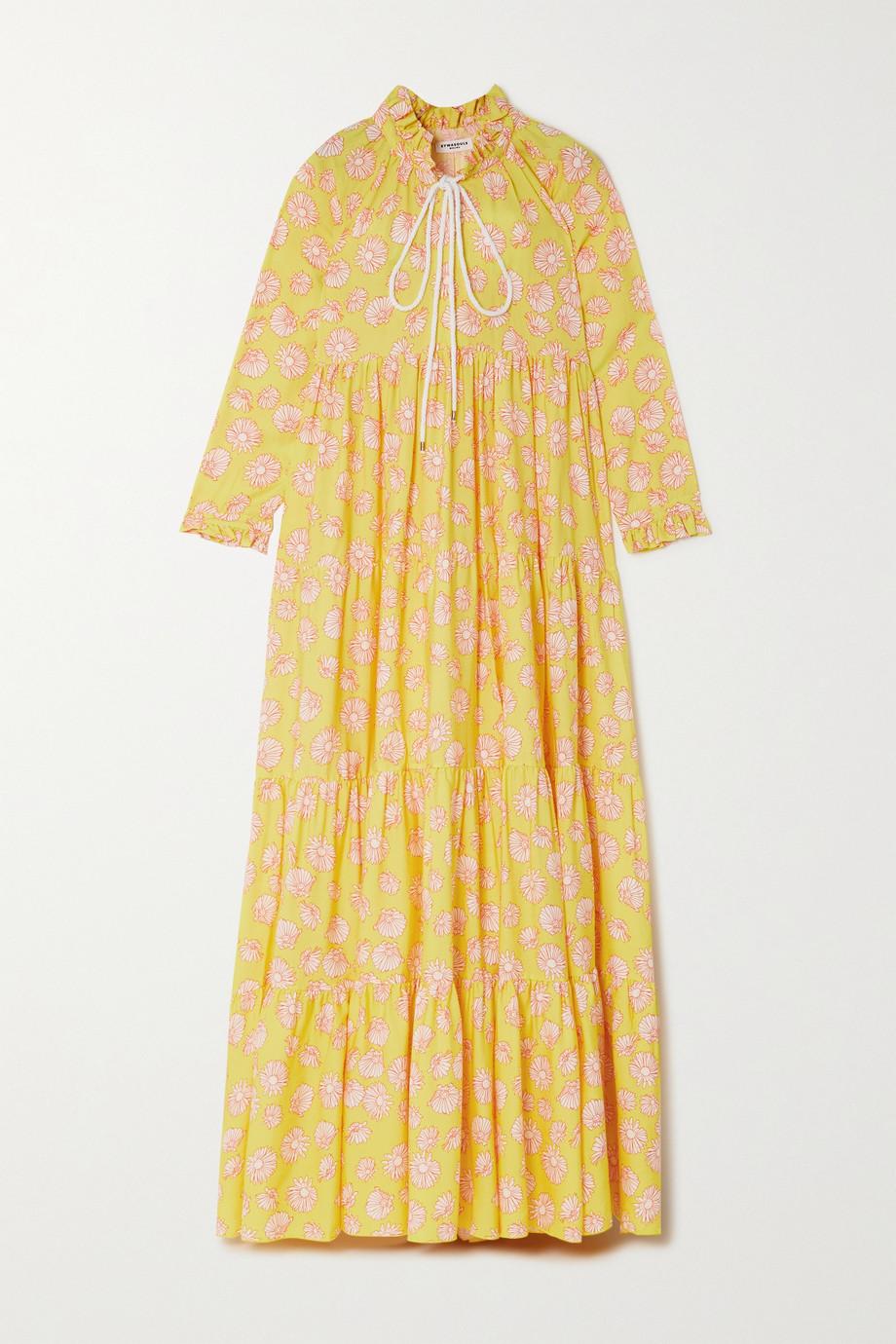 Eywasouls Malibu Robe longue en serge de Lyocell TENCEL à imprimé fleuri Cora