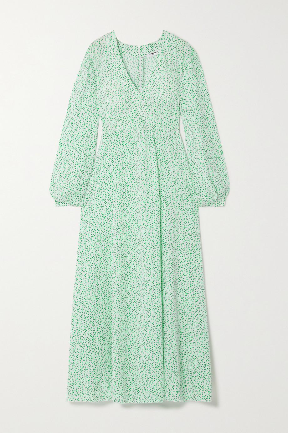 Eywasouls Malibu Robe longue effet portefeuille en serge de Lyocell TENCEL imprimée Elsa