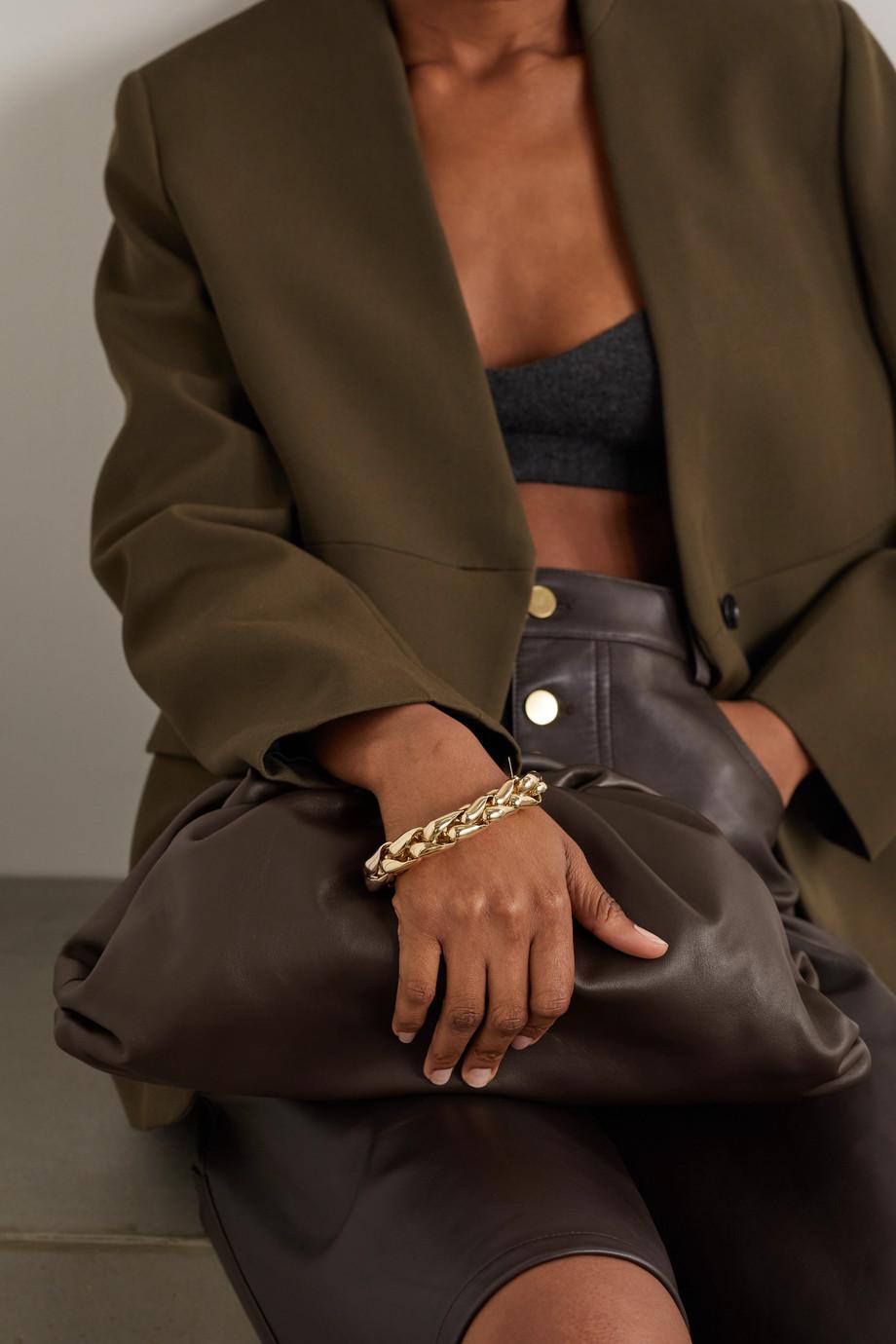 Bottega Veneta Pochette en cuir à fronces The Pouch Large