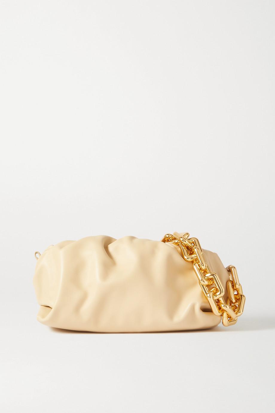 Bottega Veneta Pochette en cuir à fronces The Chain Pouch