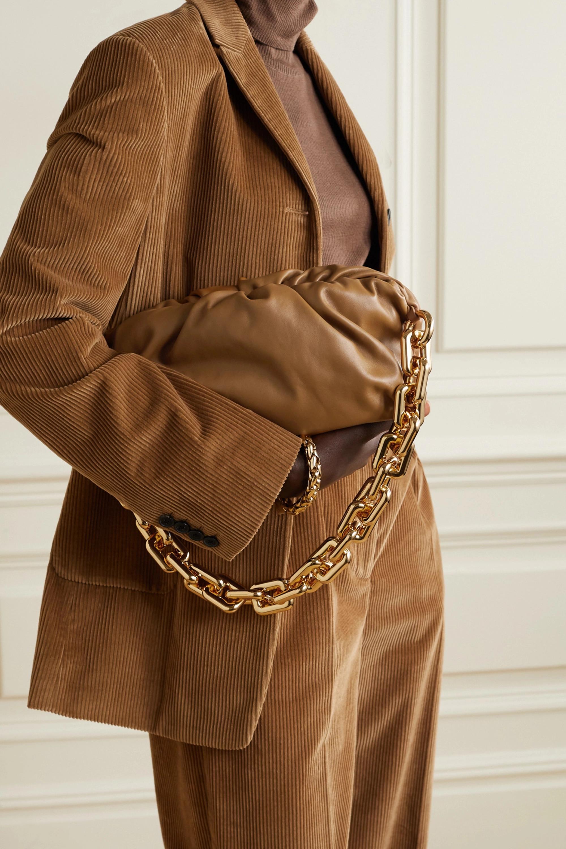 Bottega Veneta The Chain Pouch gathered leather clutch