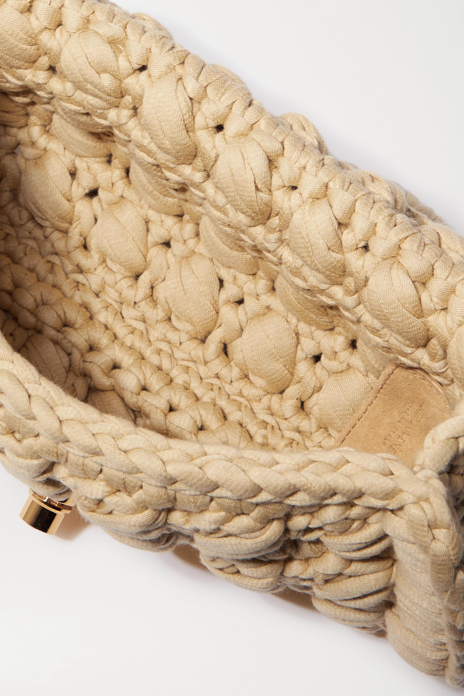 Bottega Veneta Schultertasche aus einer gehäkelten Baumwollmischung