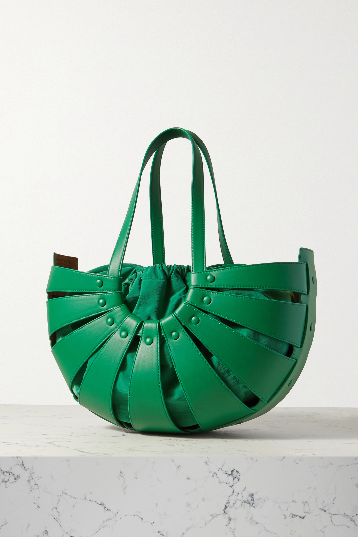 Bottega Veneta The Shell medium leather shoulder bag