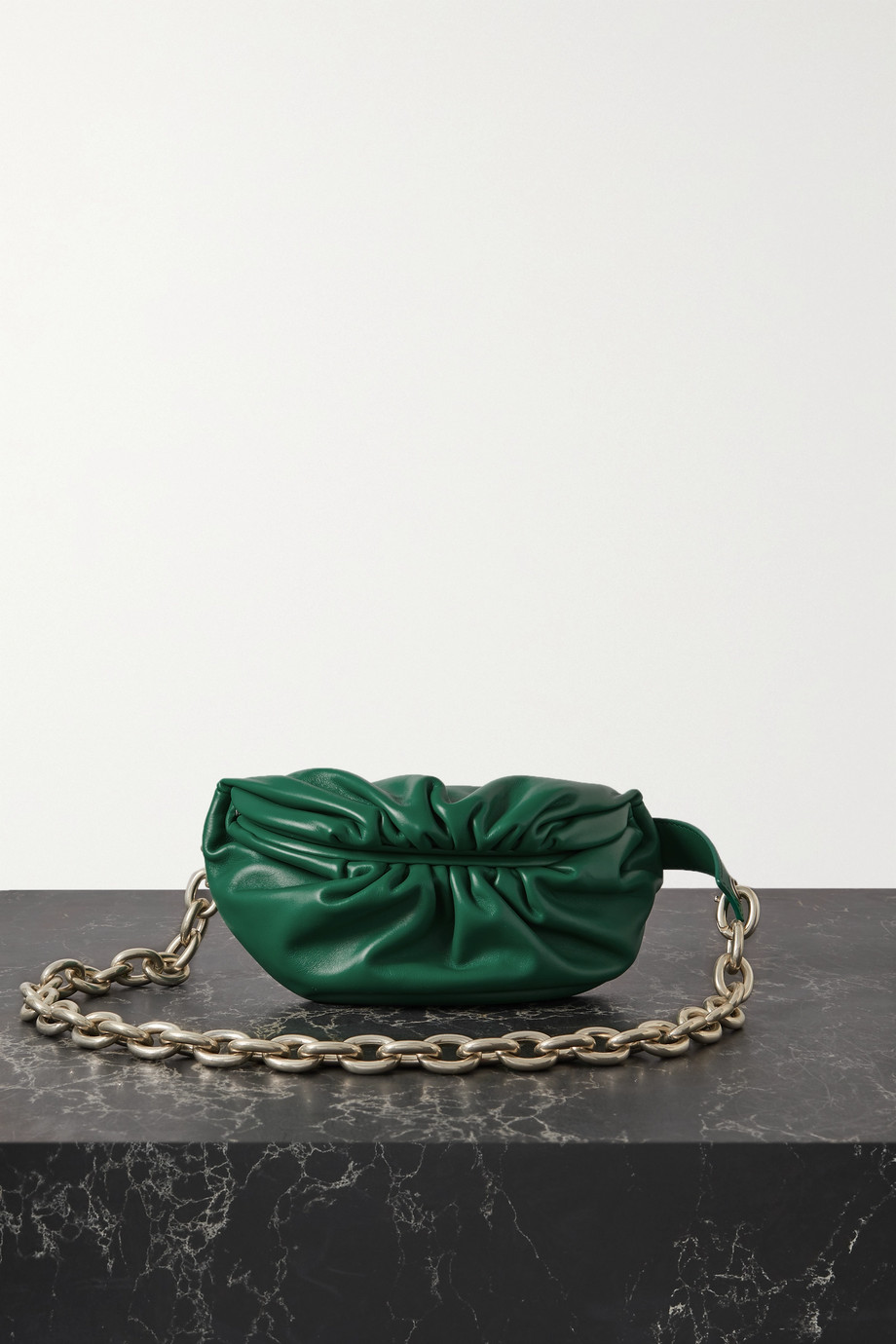 Bottega Veneta The Chain Pouch gathered leather belt bag