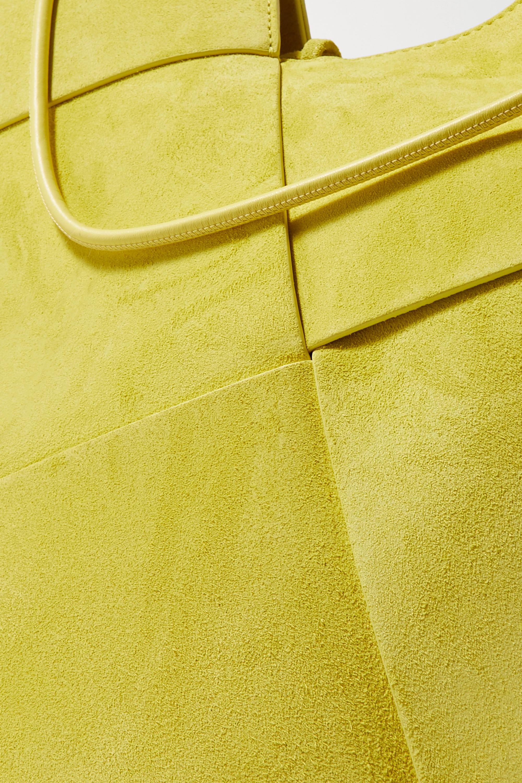Bottega Veneta Flower Basket mittelgroße Tote aus Intrecciato-Veloursleder und Leder