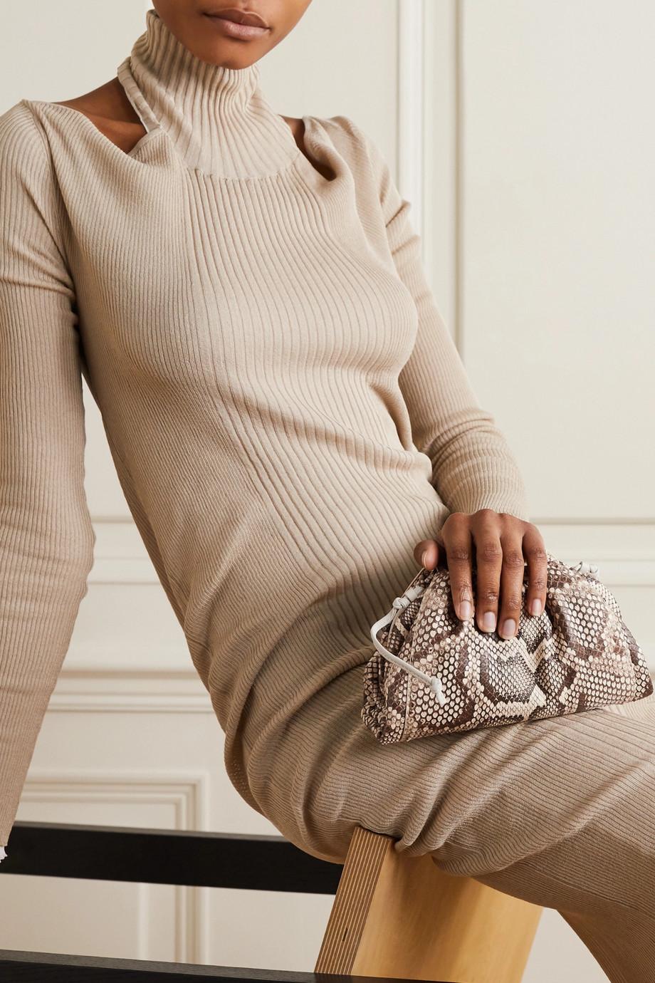 Bottega Veneta Pochette en python à finitions en cuir The Pouch Small