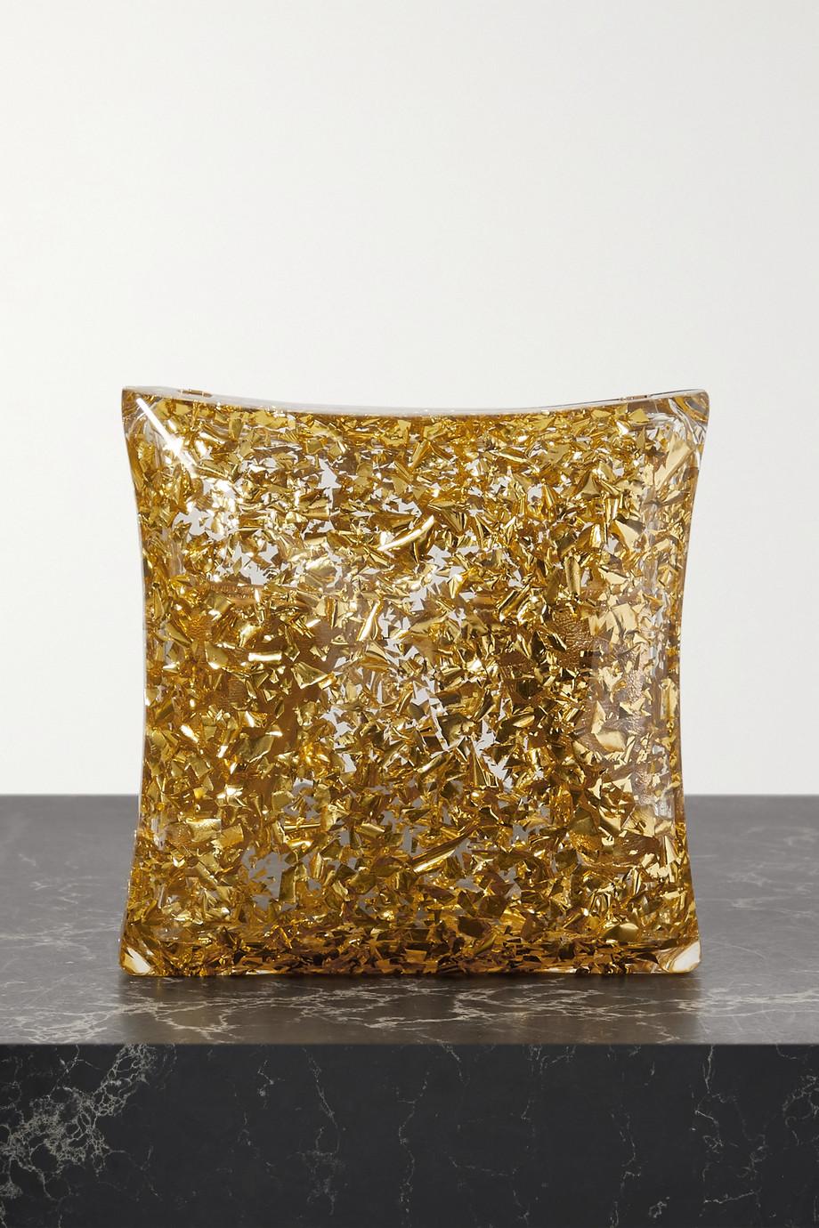 Bottega Veneta Clutch aus Plexiglas® in Glitter-Optik