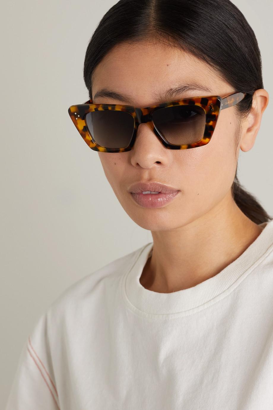 CELINE Eyewear Edge Sonnenbrille mit Cat-Eye-Rahmen aus Azetat in Hornoptik