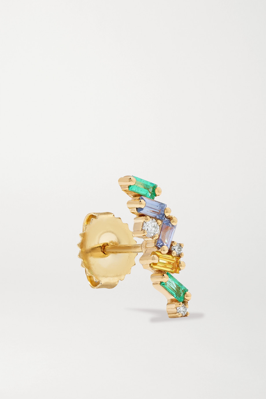 Suzanne Kalan 18-karat gold multi-stone earrings