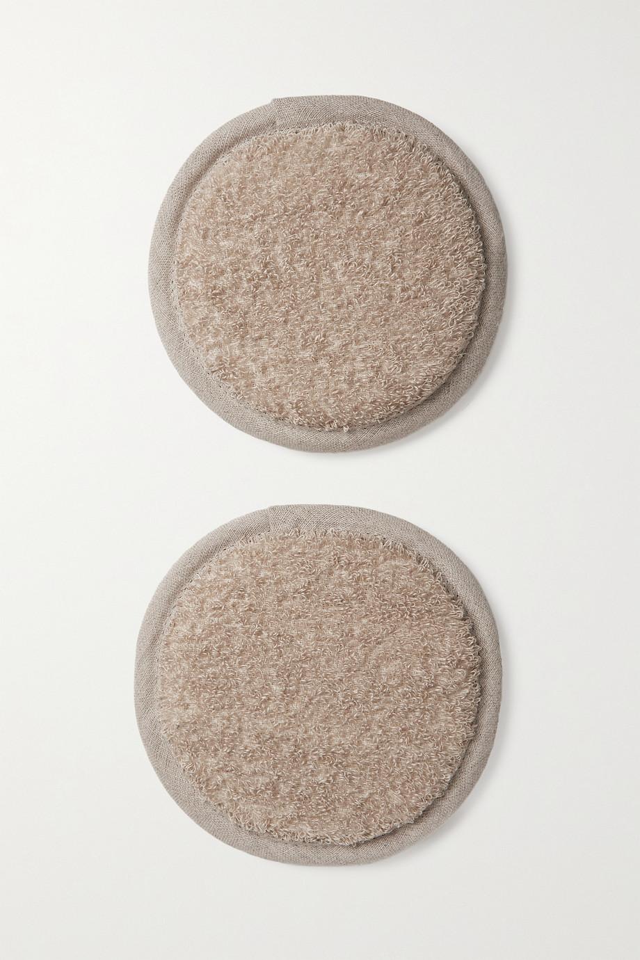 Joanna Czech Lot de deux gants de toilette pour le corps biologiques